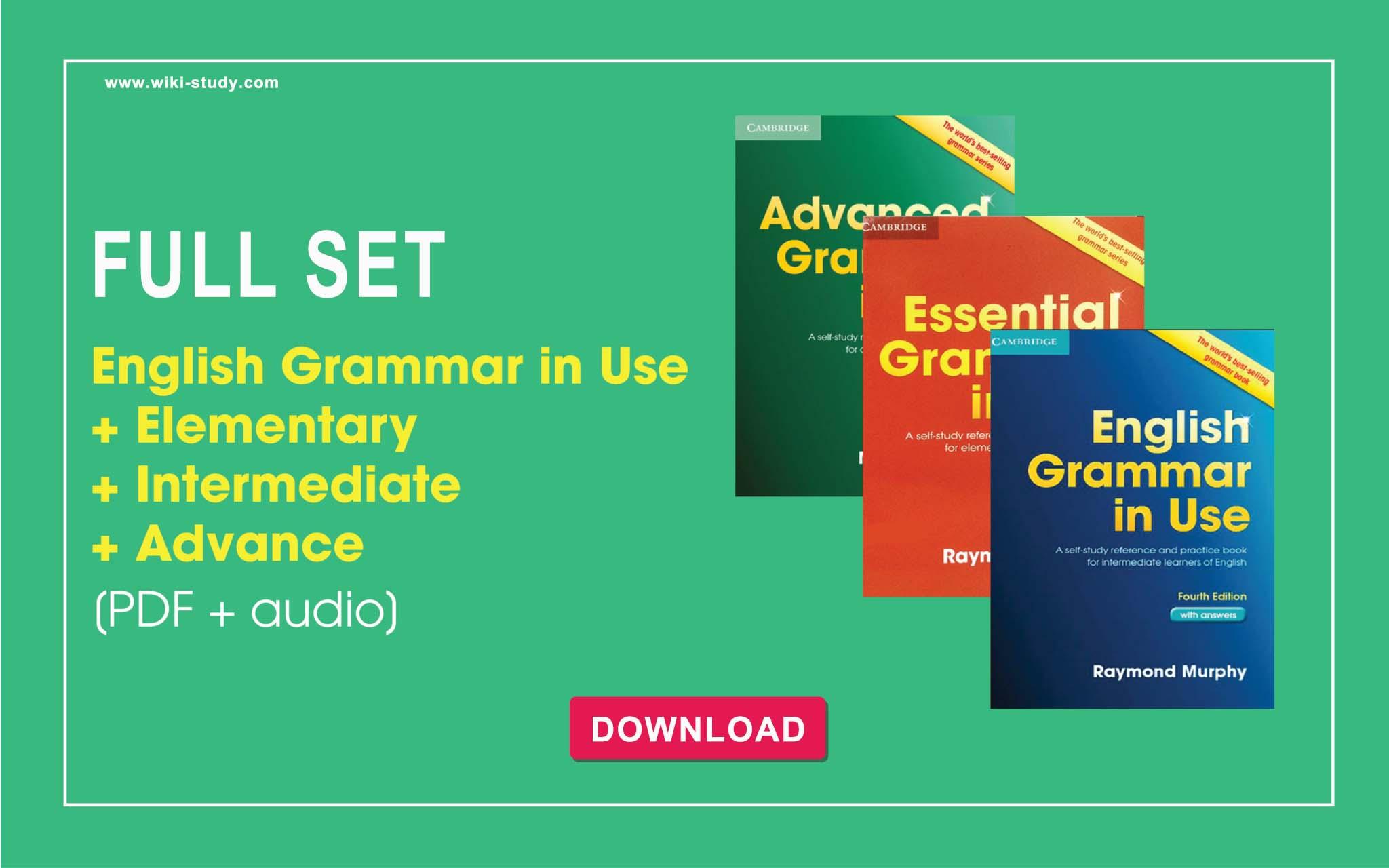 Download English Grammar In Use Elementary Intermediate Advanced Pdf Audio